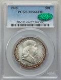 Franklin Half Dollars, 1948 50C MS66 Full Bell Lines PCGS. CAC. PCGS Population: (517/17). NGC Census: (138/7). CDN: $225 Whsle. Bid for problem-f...