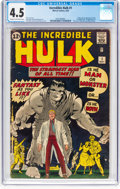 Silver Age (1956-1969):Superhero, The Incredible Hulk #1 (Marvel, 1962) CGC VG+ 4.5 Cream to...