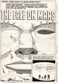 "Original Comic Art:Complete Story, Jack Kirby and Al Williamson Race For the Moon #2 Complete 5-Page Story ""The Face On Mars"" Original Art (Harvey, 1..."