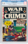 Golden Age (1938-1955):Crime, War Against Crime #1 (EC, 1948) CGC VF- 7.5 Off-white to white pages....
