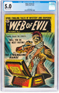 Golden Age (1938-1955):Horror, Web of Evil #7 (Quality, 1953) CGC VG/FN 5.0 Off-white to white pages....