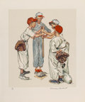 Prints & Multiples:Print, Norman Rockwell (American, 1894-1978). Sports Portfolio (four works), 1977. Lithographs in colors in wove paper. 18-1/2 ...