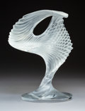 Glass, A Lalique Clear and Frosted Glass Trophée Sculpture, Wingen-sur-Moder, France, post-1945. Marks: Lalique, Fran...