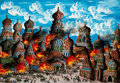Works on Paper:Drawing, Gabriel Cohen (Israeli, b. 1933). Les Pogroms, 1988. Oil on paper. 27-1/2 x 39-1/4 inches (69.9 x 99.7 cm). Signed, date...