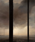 Post-War & Contemporary:Contemporary, Dozier Bell (American, b. 1957). Untitled (Five Pillars),1988. Oil on canvas. 58 x 48 inches (147.3...