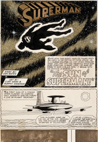 Curt Swan and Murphy Anderson Superman #255 Story Page 1 Original Art (DC, 1972)