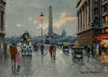 Paintings:Contemporary   (1950 to present), Antoine Blanchard (French, 1910-1988). Place de la Concorde. Oil on canvas. 13 x 18 inches (33.0 x 45.7 cm). Signed lowe...