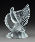Glass, A Lalique Clear and Frosted Glass Dove Dea Sculpture, 1992. Marks: Signed M C Lalique; engraved Lalique, F...