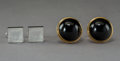 Jewelry:Cufflinks, Two Pairs of Lalique Cufflinks, late 20th century. Marks: LALIQUE, France, (various). 1-3/8 x 1 x 1 inches (3.5 x 2.5 x ... (Total: 2 Items)