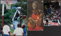 Autographs:Photos, Kevin Garnett Signed Magazine Page Lot of 3....
