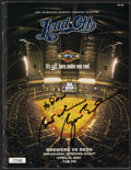 Baseball Collectibles:Programs, 2001 President George W. Bush Signed Opening Day Program....