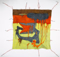 Sculpture:Contemporary, Fabian Marcaccio (b. 1963). L.A. #1 (from the Paint Zone series), 1995. Collograph oil on canvas with copper pipe struct...