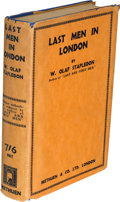 Books:First Editions, W. Olaf Stapledon. Last Men in London. London: 1932. Firstedition. ...