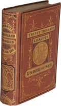 Books:First Editions, Jules Verne. Twenty Thousand Leagues Under the Seas. Boston: James R. Osgood and Company, 1873. First U. S. edition....