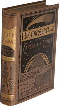 Jules Verne. Pair of Space Stories. London: [1877?]-1878. One first and one early English edition.... (Total: 2 Items)