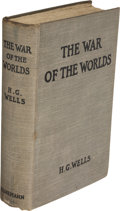 Books:First Editions, H.G. Wells. The War of the Worlds. London: WilliamHeinemann, 1898. First edition....