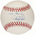 "Autographs:Baseballs, Derek Jeter ""Happy Father's Day"" Single Signed Baseball...."
