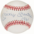 "Autographs:Baseballs, 1990-92 Mickey Mantle ""1961"" Single Signed Baseball...."