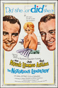 "Movie Posters:Comedy, The Notorious Landlady & Other Lot (Columbia, 1962). Folded,Very Fine-. One Sheet (27"" X 41"") & Australian Daybill (13.25""... (Total: 2 Items)"