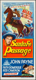Movie Posters:Western, Santa Fe Passage & Other Lot (Republic, 1955). Folded, Fin...