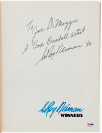 1985 Joe DiMaggio's Personal Copy of Winners by LeRoy Neiman