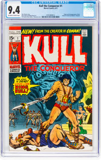 Kull the Conqueror #1 (Marvel, 1971) CGC NM 9.4 Off-white to white pages
