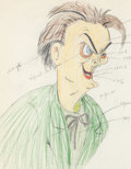Animation Art:Color Model, The Autograph Hound Lionel Barrymore Color Model Animation Drawing (Walt Disney, 1939)....