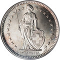 Switzerland:Helvetic Confederation, Switzerland: Confederation silver 2 Francs 1909-B,...