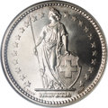 Switzerland:Helvetic Confederation, Switzerland: Confederation silver 2 Francs 1906-B,...