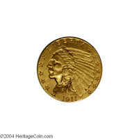 1911-D $2 1/2 AU58 Uncertified. Light yellow-gold surfaces project good eye appeal despite minor cleaning. This example...