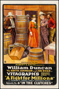 Movie Posters:Serial, A Fight for Millions (Vitagraph, 1918). Fine on Linen....