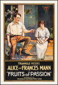 Movie Posters:Drama, Fruits of Passion (Triangle, 1919). Very Good- on Linen.