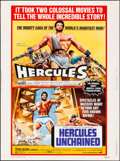 Movie Posters:Action, Hercules/Hercules Unchained Combo (Avco Embassy, R-1973). ...
