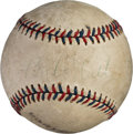 Baseball Collectibles:Balls, 1933 Babe Ruth, Lou Gehrig & More Signed Baseball from DayGehrig Broke Consecutive Games Record....