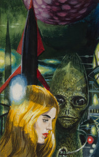 Edmund Emshwiller (American, 1925-1990) The Best from Fantasy and Science Fiction paperback cover preliminary, 1960 Ac...