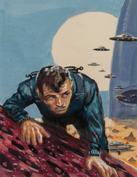 Edmund Emshwiller (American, 1925-1990) The Original Science Fiction Stories cover preliminary, September 1958 Acrylic...