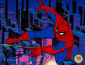 Animation Art:Seriograph, Spider-Man Sericel Signed by Stan Lee (Marvel, 1998)....
