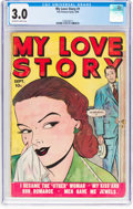 Golden Age (1938-1955):Romance, My Love Story #1 (Fox, 1949) CGC GD/VG 3.0 Off-white to whitepages....