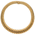 Estate Jewelry:Necklaces, Gold Necklace  The 14k gold necklace weighs 95...
