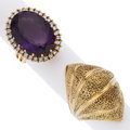 Estate Jewelry:Rings, Diamond, Amethyst, Gold Rings. ...