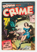 Golden Age (1938-1955):Crime, Down with Crime #5 (Fawcett Publications, 1952) Condition: FN-....