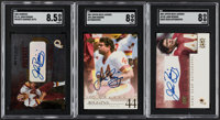 Signed Upper Deck & Donruss John Riggins SGC-Graded Trio (3)