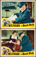 "Movie Posters:Comedy, The Bank Dick (Realart, R-1949). Very Fine-. Lobby Cards (2) (11"" X14""). Comedy. From the Collection of Frank Buxton, of ...(Total: 2 Items)"