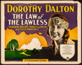 """Movie Posters:Drama, The Law of the Lawless (Paramount, 1923). Fine/Very Fine. TitleLobby Card (11"""" X 14""""). Drama. From the Collection ofFran..."""