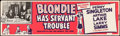 Movie Posters:Comedy, Blondie Has Servant Trouble (Columbia, R-1950). Rolled, Fi...