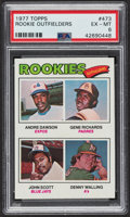 Baseball Cards:Singles (1970-Now), 1977 Topps Andre Dawson - Rookie Outfielders #473 PSA EX-MT 6....