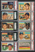 Baseball Cards:Lots, 1956 Topps Baseball PSA and SGC Graded Collection (16)...