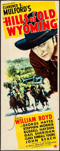 Movie Posters:Western, Hills of Old Wyoming (Paramount, 1937). Rolled, Fine.