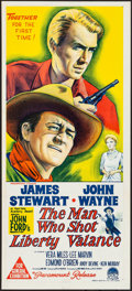 Movie Posters:Western, The Man Who Shot Liberty Valance (Paramount, 1962). Folded...
