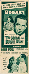 Movie Posters:Romance, To Have and Have Not (Warner Brothers, R-1952). Folded, Fi...